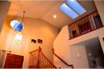 Beautiful vaulted ceilings with skylights for natural lighting a