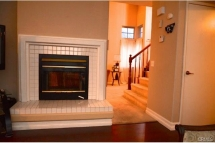 Light up the wood burning fireplace for those cool nights and en