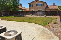 Large back yard great for entertaining and plenty of room to add