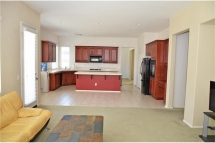 The much desired open concept kitchen to family room with lots o