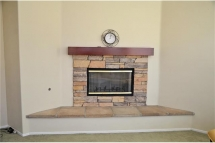 Gas Fireplace in Family room.