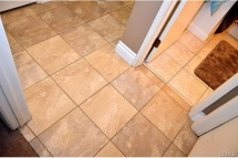 A better look at these beautiful tile floors from kitchen throug