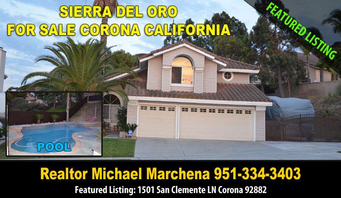 Corona Home For Sale - 1501 San Clemente Ln Corona Ca 92883