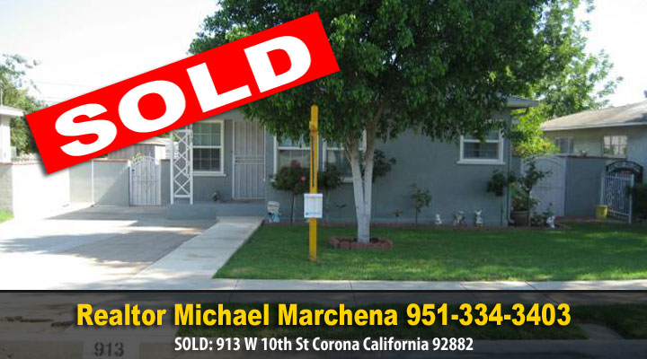 Sold Home in Corona California, Corona happy home owners