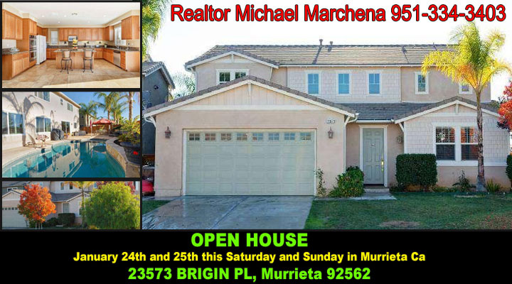 Open House 23573 Brigin PL Murrieta California