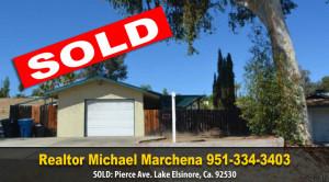 Sold Pierce Ave Lake Elsinore
