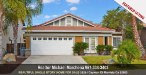 For Sale 39261 Cayman Ct Murrieta Ca 92563